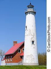 Tawas Point Lighthouse, built in 1876, Lake Huron, Michigan,...