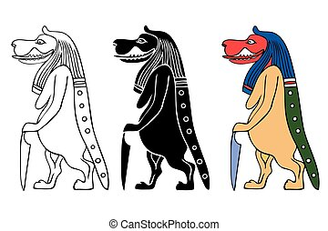 Taweret - mythical creature of Ancient Egypt