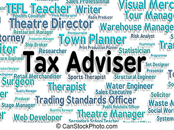 Tax Adviser Shows Mentors Word And Words - Tax Adviser...