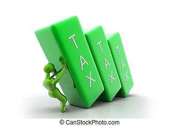 Tax bar - Person holding the tax bar