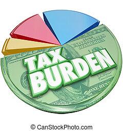 Tax Burden Money Owed Government Pie Chart Payment