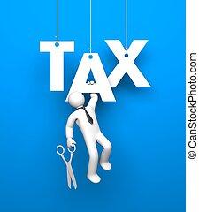 Tax. Business metaphor
