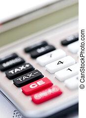 Tax calculator keypad - Closeup on tax calculator keypad...