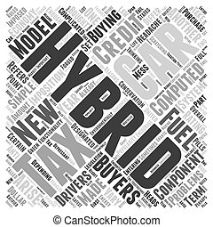 tax credit for hybrid cars Word Cloud Concept