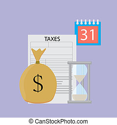 Tax day vector concept