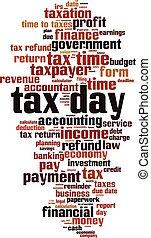 Tax day word cloud