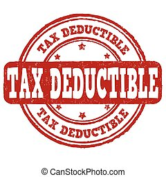 Tax deductible stamp - Tax deductible grunge rubber stamp on...