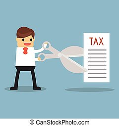 Tax Deduction. Business Concept