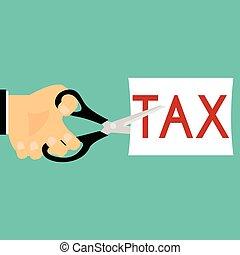 Tax Deduction. Business Concept