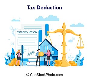 Tax deduction. Income subsidies. Idea of accounting and payment.