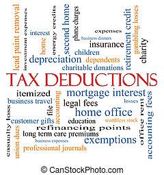 Tax Deductions Word Cloud Concept