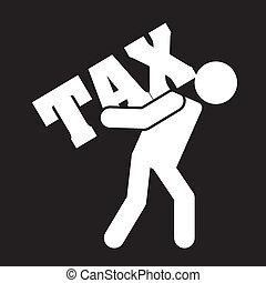 tax design over black background vector illustration