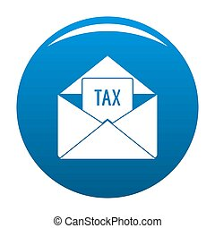 Tax email icon blue