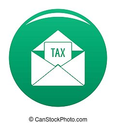 Tax email icon green
