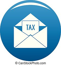 Tax email icon vector blue