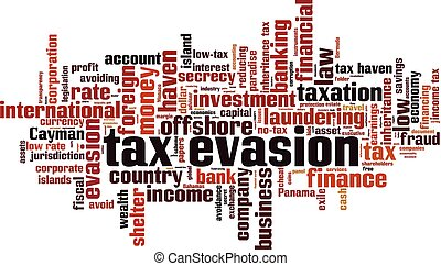Tax evasion word cloud