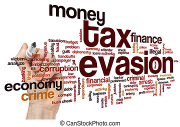 Tax evasion word cloud - Tax evasion concept word cloud ...