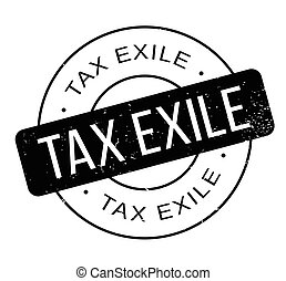 Tax Exile rubber stamp. Grunge design with dust scratches....