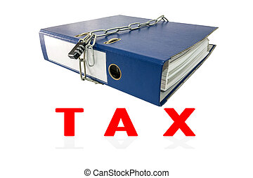 Tax file folders locked with key chain.