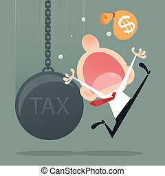 financial crisis in tax burden concept
