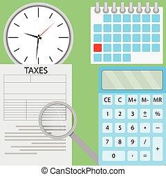 Tax flat design