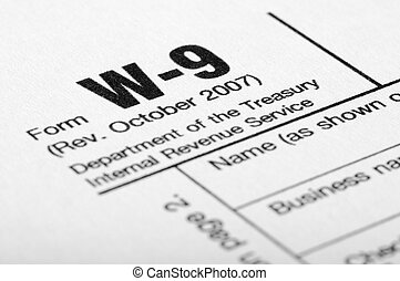 Tax Form Filling - W-9 income tax form