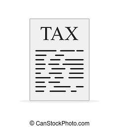 Tax form icon. Vector illustration
