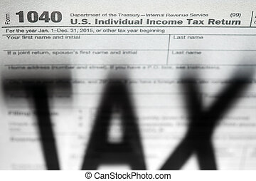 Tax forms background with Tax shadow