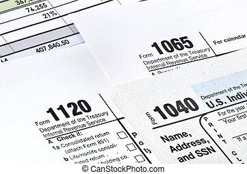 Tax forms. - Tax forms 1040,1120,1065. U.S Income Tax...