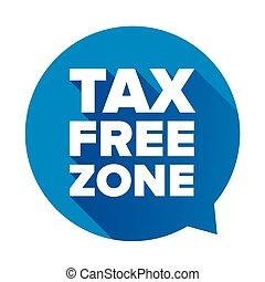Tax free blue speech bubble vector