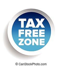 Tax free blue sticker vector