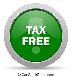 tax free green glossy web icon