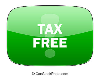 tax free green icon