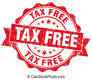 Tax Free Grunge Stamp