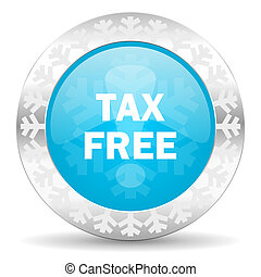 tax free icon, christmas button