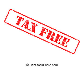 Tax Free -  Red Rubber Stamp.