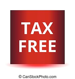 Tax free red web glossy icon.