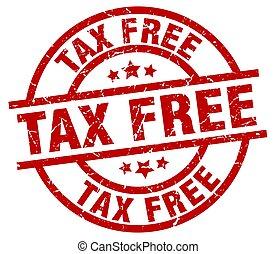 tax free round red grunge stamp