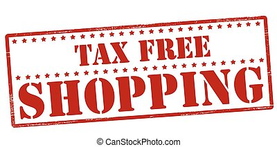 Tax free shopping - Rubber stamp with text tax free shopping...
