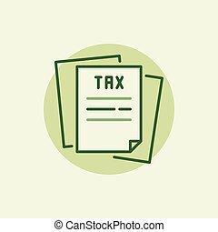 Tax green icon