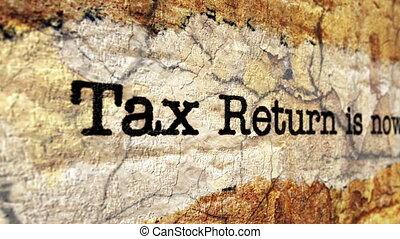 Tax grunge concept