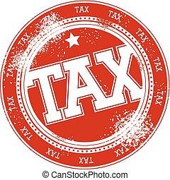 tax grunge stamp vector