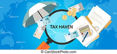 tax haven country finance business illustration money protection