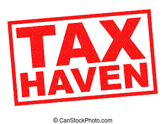 TAX HAVEN red Rubber Stamp over a white background.