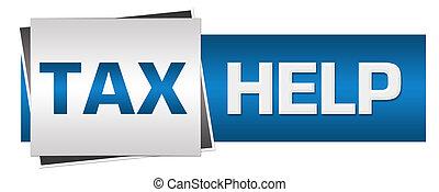 Tax Help Blue Grey Horizontal