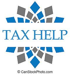Tax Help Blue Grey Squares