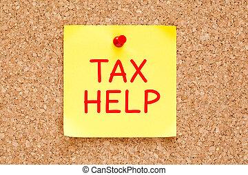 Tax Help Sticky Note