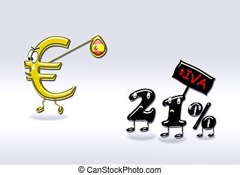 Tax increase in Spain.