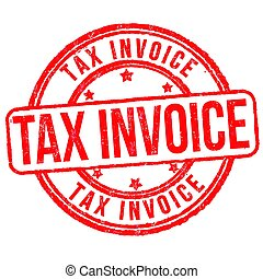 Tax invoice sign or stamp