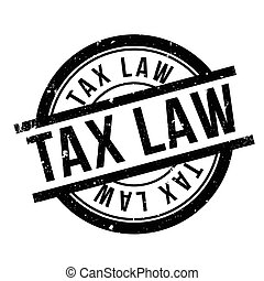 Tax Law rubber stamp